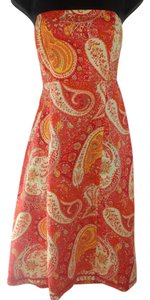 Moda International short dress orange, red, yellow on Tradesy