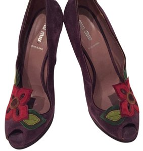 Miu Miu Plum Wedges