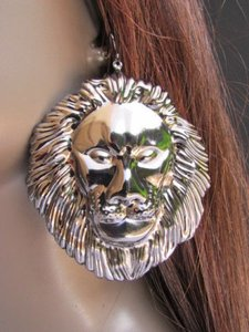 Other Women Fashion Pewter Metal Earrings Set 33 Huge Lion Head Big Ciecle 3 Drop