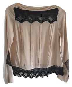 Catherine Malandrino Top Beige and black