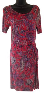 Ralph Lauren short dress red, purple, navu on Tradesy