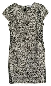 Diane von Furstenberg short dress Black & Cream on Tradesy