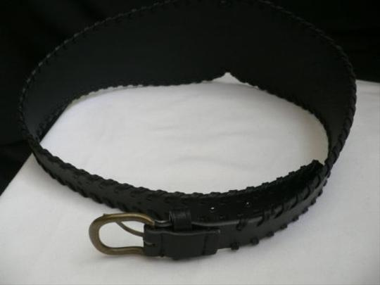 Other Women Hip H. Waist Faux Leather Black Wide Western Fashion Belt 29-34