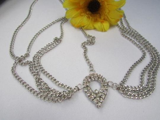 Other Women Silver Metal Head Chain Hair Fashion Jewelry Drop Multi Rhinestones