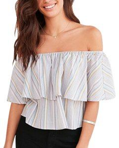 Kimchi Blue Off The Shoulder Urban Outfitters Colorful Top Multicolor