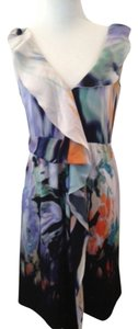 Elie Tahari short dress Multi (purple, white, green, orange) on Tradesy