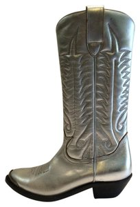 Golden Goose Deluxe Brand Silver Boots