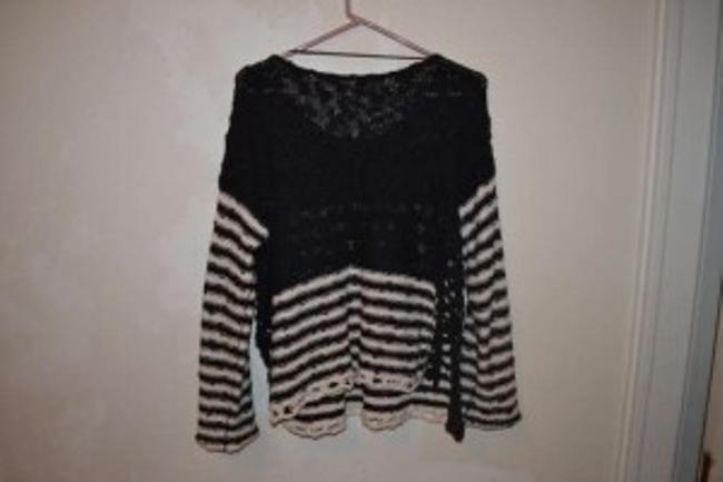 Free People Stipes Crochet Sweater