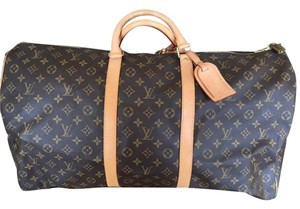 Louis Vuitton Luggage Carry On Duffle Monogram Travel Bag
