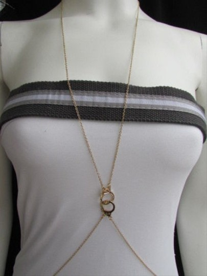 Other Women Body Jewerlry Long Necklace Gold Handcuff Chains Trendy Thin Metal