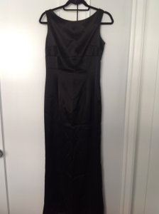 Elie Tahari Black Satin Formal Dress