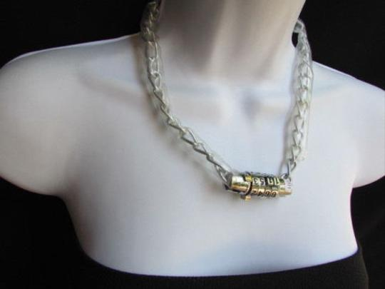 Other Women Fashion Lock Combination Numbers Necklace Bikers Punk Chains Style