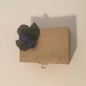 Gold and Blue Ring Bearer Pillow