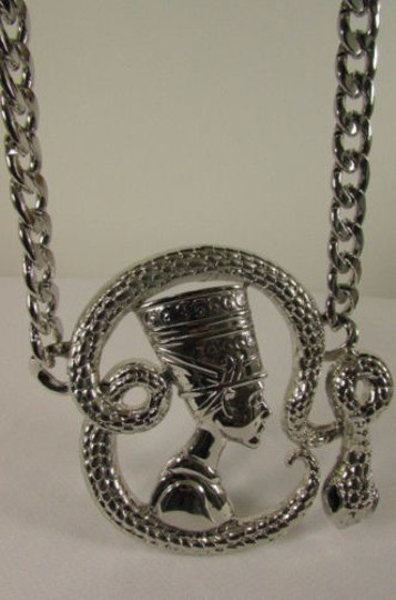 Other Women Silver Metal Big Snake Cleopatra Egyptian Fashion Necklace Pendant
