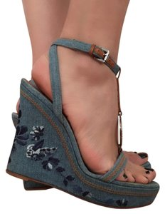 Dior Wedges Denim blue Wedges