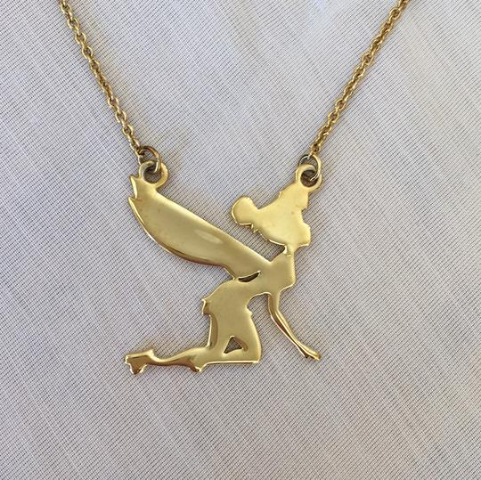 Disney gold couture flying tinkerbell necklace tradesy disney disney couture flying tinkerbell necklace aloadofball Gallery