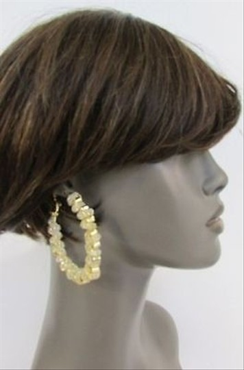 Other Women Gold Loop Wide Huge Shinny Gold Mesh Hoop Hook Fashion Round Earring