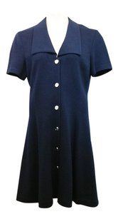 St. John short dress Navy Blue Knit on Tradesy