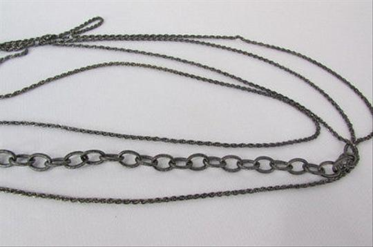 Other Women Gunmetal Body Chain Pewter Classic Long Necklace Fashion Jewelry