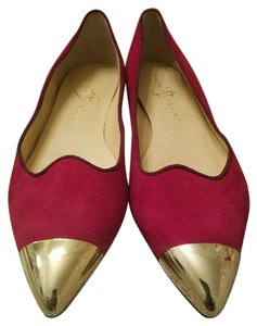 Ivanka Trump RED SUEDE Flats