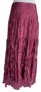 Eyeshadow Maxi Skirt Maroon