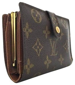 Louis Vuitton French Kisslock Bifold Wallet with Coin Pocket Monogram France