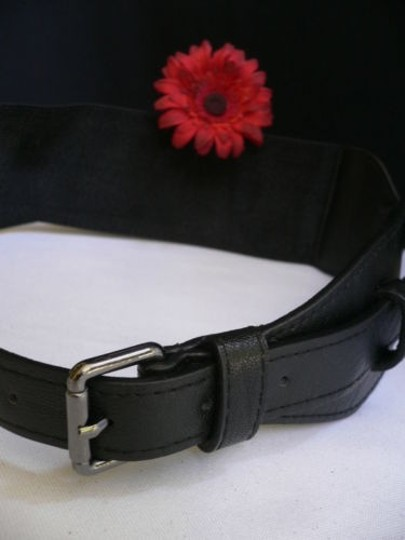 Other Women Hip Waist Elastic Black Long Fashion Belt Metal Buckle 28-34
