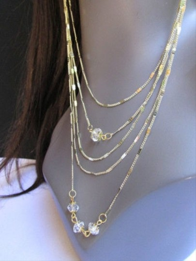 Other Women Long Gold Metal Chains Fashion Earrings Set 13 Trendy Necklace