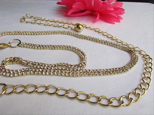 Other Women Gold Narrow Metal Chain Beads Fashion Belt Hip High Waist 27-35