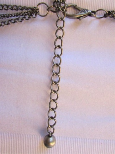 Other Women Antique Silver Wave Strand Metal Chains Fashion Belt Stars Charm Hip