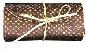 Louis Vuitton Brown And Gold Clutch