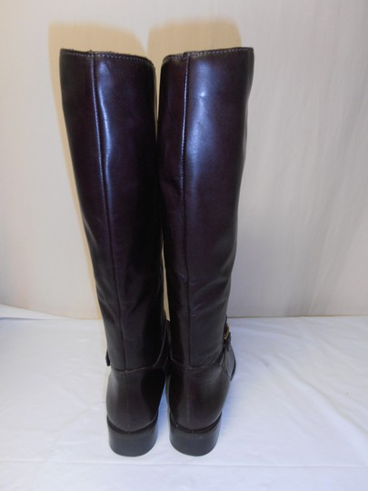 Etienne Aigner Designer Pull On Equestrian Riding brown Boots