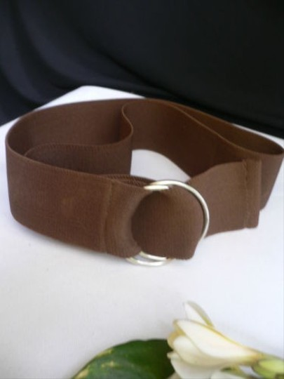 Other Women High Waist Hip Stretch Brown Elastic Fabric Band Fashion Belt