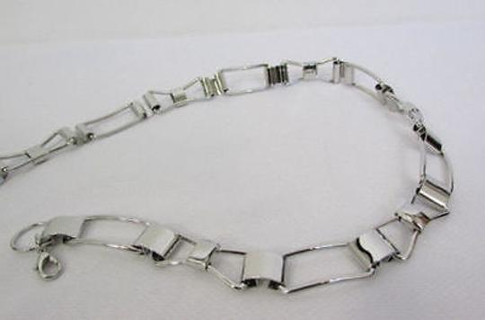Other Women Silver Metal Belt Skinny Thin Bows Hip High Waist Image 10