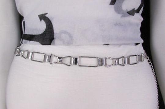 Other Women Silver Metal Belt Skinny Thin Bows Hip High Waist Image 3