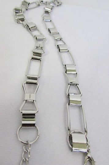 Other Women Silver Metal Belt Skinny Thin Bows Hip High Waist Image 4