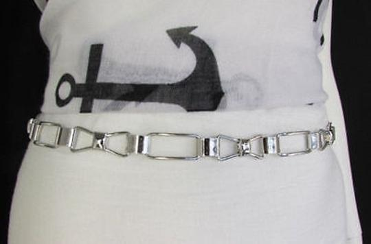Other Women Silver Metal Belt Skinny Thin Bows Hip High Waist Image 6