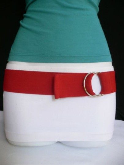 Other Women High Waist Hip Stretch Red Casual Elastic Fashion Belt
