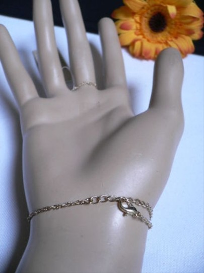 Other Women Gold Metal Hand Chains Hot Trendy Fashion Bracelet 1 Finger Slave Ring