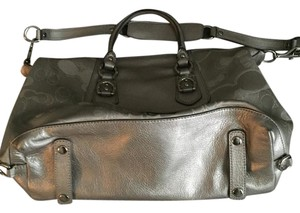 Coach Yes Satchel in Silver/Gray