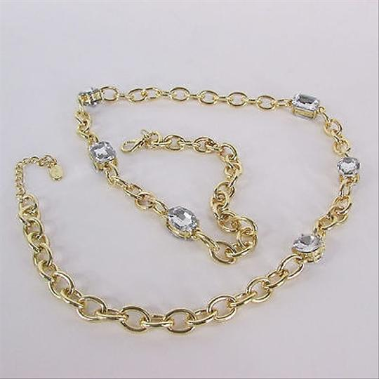 Other Women Silver Rhinestones Metal Squares Gold Fashion Chains Thin Belt
