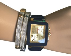 Michele NWT Park Jelly Bean NAVY/GOLD Watch MWW06L000027