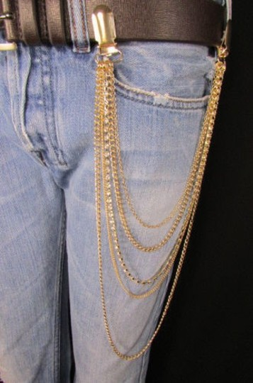 Other Women Gold Metal Wallet Chain Jean Key Garter Holder