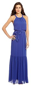 Blue Maxi Dress by Jessica Simpson Purple Laser Cutout Maxi Dress (S)