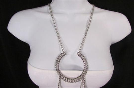 Other Women Silver Body Chain Full Frontal Wide Necklace Fashion Trendy Jewelry