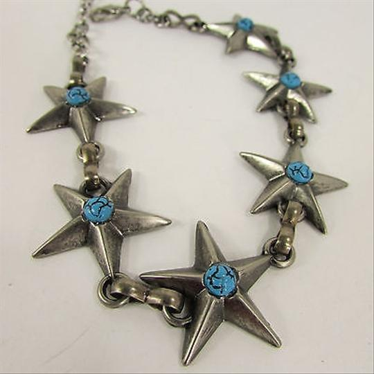 Other Women Fashion Boot Rodeo Silver Metal Chain Bracelet Turquoise Stars Shoe Charm