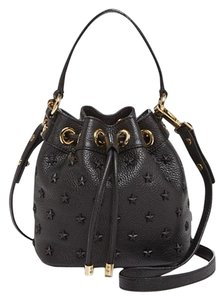 MILLY Leathe Star Studded Cross Body Bag