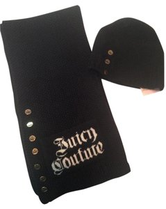 Juicy Couture Juicy Black Scarf & Hat Set