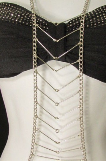 Other Women Big Silver Egyptian Metal Body Chain Jewelry Necklace