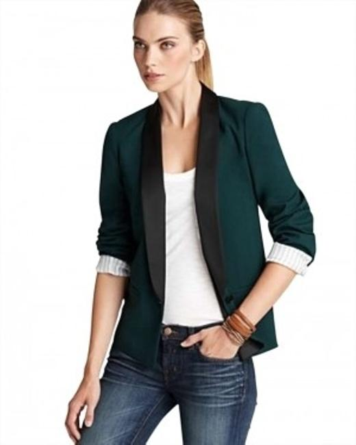 Aqua Cotton Dryclean Only Imported Deep Pine Blazer